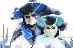 Italien Venedig karnevalmaskeringar Royaltyfri Foto