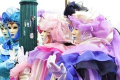 Italien Venedig karnevalmaskeringar Royaltyfri Fotografi