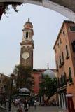 Italien Venedig, klockatorn Royaltyfria Bilder