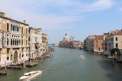 Italien Venedig, storslagen kanal Arkivbild