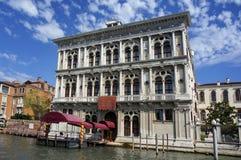 Italien Venezia - Palazzo Erizzo Arkivbilder