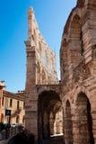 Italien Verona, forntida amfiteater Arkivfoton