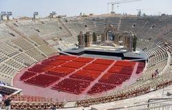 Italien Veronese amfiteater (arenadien Verona) Royaltyfria Bilder