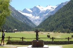 italienare för alpesaostacogne royaltyfri foto