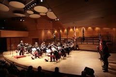 italienare för armécommemorationkonsert Arkivbilder