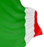 italienare för flagga 3d Royaltyfri Bild