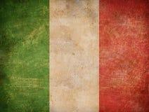 italienare för bakgrundsflaggagrunge Royaltyfri Fotografi
