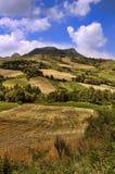 italienare landscapes montecopiolo Royaltyfria Bilder
