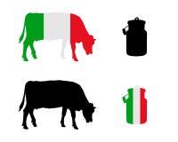 Italienare mjölkar kon vektor illustrationer
