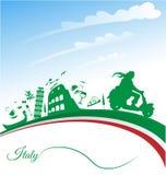 Italienare semestrar bakgrund royaltyfri illustrationer
