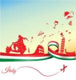 Italienare semestrar bakgrund Arkivbild