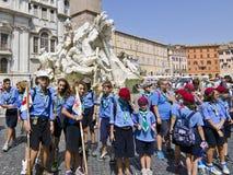 Italienare spanar i Rome Arkivfoto