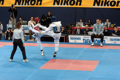 italienare taekwondo för 2009 mästerskap Royaltyfri Fotografi