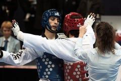 italienare taekwondo för 2009 mästerskap Royaltyfria Foton