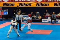 italienare taekwondo för 2009 mästerskap Royaltyfri Foto
