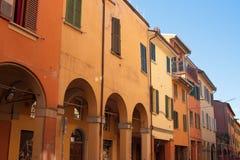 Italienarehus i bolognaen Arkivbilder