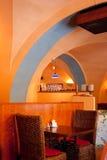 italienarerestaurang för 2 interior Arkivbild