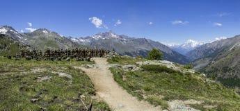 Italienaresoldater i bergen Royaltyfria Foton