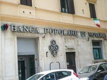 Italiener-Banca Popolare-Di Novara lizenzfreies stockbild
