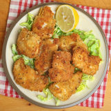Italiener Fried Chicken Fillets Stockbild
