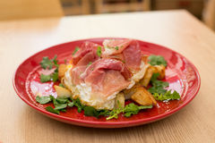 Italiener Huevos Rotos Stockbild