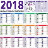 2018 Italiener-Kalender stockfoto