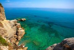 Italiener Riviera auf dem Ligurien Lizenzfreies Stockfoto