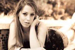 Italienermodell junger Dame Stockfoto
