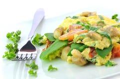Italienisch-Ähnliches Omelett Stockfotos