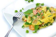 Italienisch-Ähnliches Omelett Stockbild