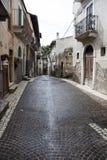 Italienische alte Stadtstraße Stockfoto