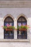 Italienische Balkone Stockfotografie