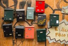 Italienische Briefkästen Lizenzfreies Stockfoto