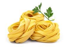 Italienische Fettuccineteigwaren Stockfotos