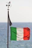Italienische Flagge Stockfotografie