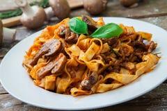 Italienische frische Teigwaren Lizenzfreies Stockbild