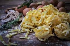 Italienische frische Teigwaren Stockbild