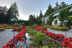 Italienische Gartenlandschaftsgestaltung Stockfotografie