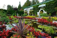 Italienische Gartenlandschaftsgestaltung Stockfotos