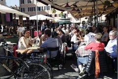 Italienische Gaststätte Stockfotografie