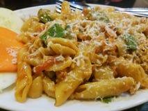 Italienische Hühnerteigwaren Stockfotos
