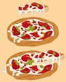 Italienische handgemachte Pizza 1 stock abbildung