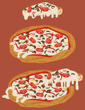 Italienische handgemachte Pizza 2 stock abbildung