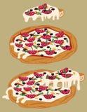 Italienische handgemachte Pizza 3 lizenzfreie abbildung