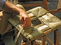 Italienische Handwerkerarbeiten füllten den Stuhl an Stockfotografie