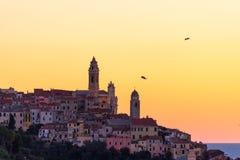 Italienische historische Stadt Stockbilder