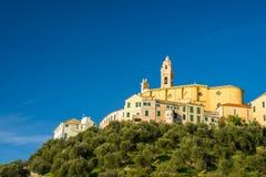 Italienische historische Stadt Stockbild