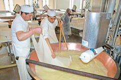 Italienische Käsefabrik Stockbild