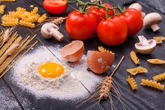 Italienische Küche - Produkte für das Kochen lizenzfreie stockfotografie