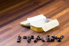 Italienische Lakritzsüßigkeiten (hergestellt in Italien) Stockfoto
